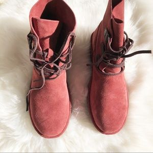 6baa50a508e NEW UGG Suede Elvi Red Clay Boots Sz 10 NWT